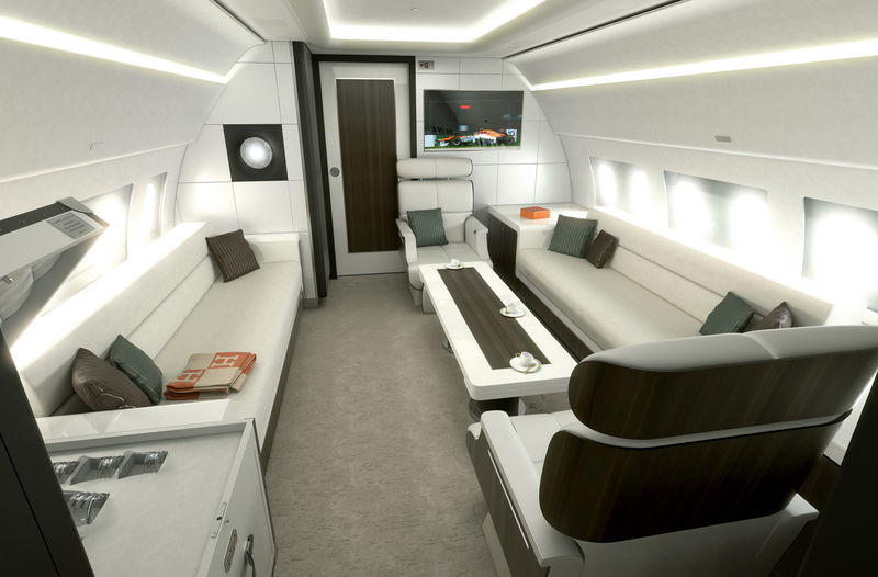 ACJ319 Bluejay cabin concept